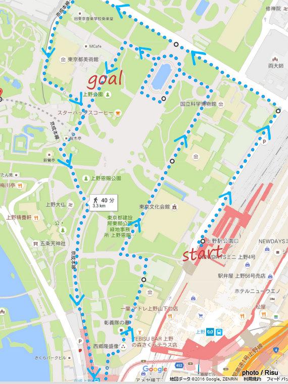 上野恩賜公園ジョギングコース