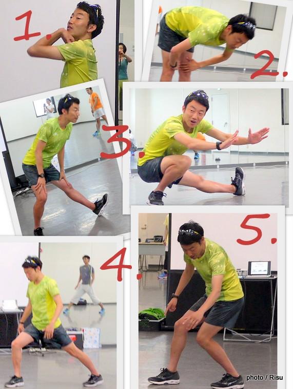ジョギング前の基本ストレッチ